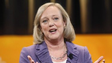 HP CEO Meg Whitman seen here when running for office as California governor in 2010.