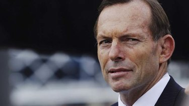 Ridiculed: Tony Abbott in Sydney on Saturday.
