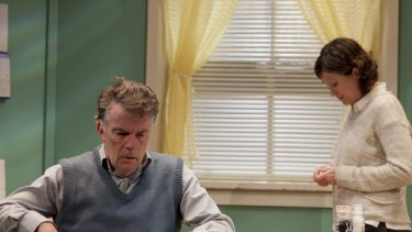 Poignant ... Russell Kiefel as Don and Linda Cropper as Pam in <em>And No More Shall We Part</em>.