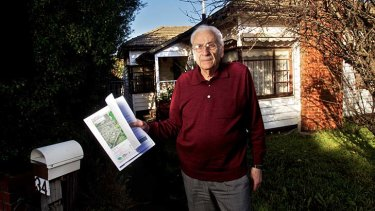 Body blow: George Mungherli with the letter telling him of his likely eviction.