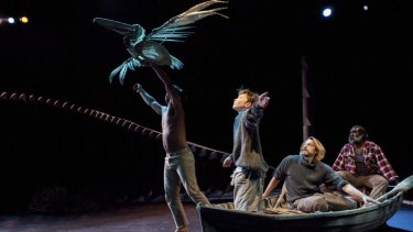 Feathered friends: Michael Smith, Rory Potter, Peter O''Brien and Trevor Jamieson star in <em>Storm Boy</em>.