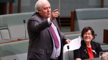 Clive Palmer says he will block legislation until he gets more staff.