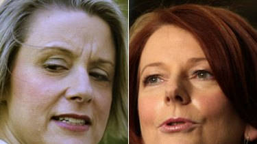 War of words ... Kristina Keneally and Julia Gillard.
