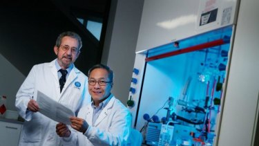 CSIRO researchers  Dr Ezio Rizzardo and Dr San Thang are this year's Nobel Prize contenders.