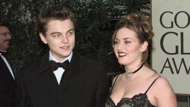 Kate and Leo at the Golden Globes for 'Titanic' in 1998.