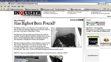 Is the search over? The supposed Bigfoot can be seen in this screen grab taken from inquisitr.com.
