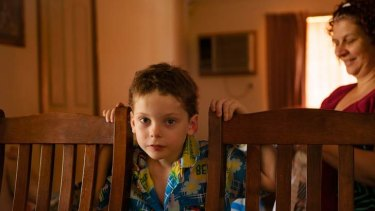Liam Bray, 5, at the home of carer Kim Senior.
