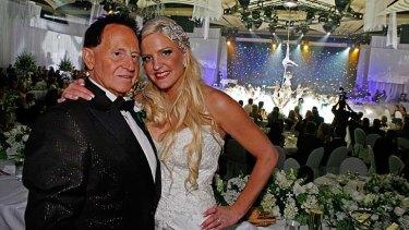 Lavish: Geoffrey Edelsten spent $2.3 million on his wedding to his wife, Brynne back in 2009.