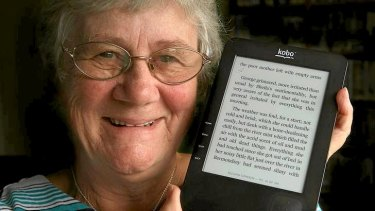 E-book enthusiast Sue Anderson eagerly awaits her email notifications alerting her to the availability of new titles.