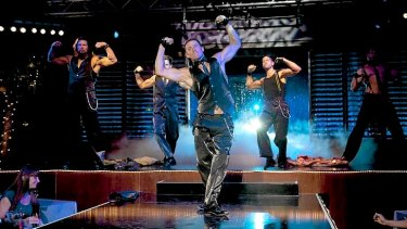 Magic Mike (Channing Tatum) and his fellow strippers strut their stuff.