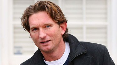 Essendon coach James Hird: ''We're obviously going to defend ourselves vigorously. We're going to contend the charges, we're going to make sure we're proven not guilty.''