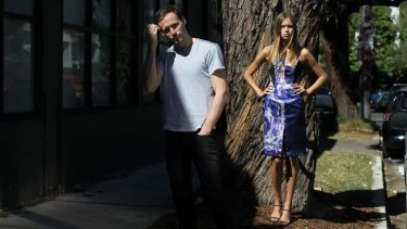 Local talent: Designer Dion Lee at his Chippendale studio, with model Yulia Drobozhan.