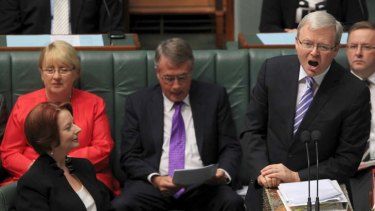 """There was some negative reaction when Gillard replaced an incumbent prime minister."""