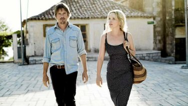 Dark hour: Ethan Hawke and Julie Delpy are troubled in their third outing as lovers Jesse and Celine.