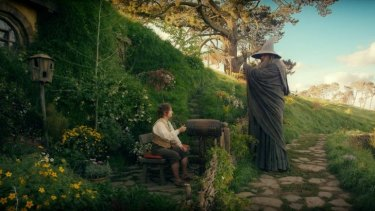 Movie sets like the Hobbiton Village from <i>Lord of the Rings</i> can transform natural landscapes into magical locations.