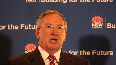 Under community pressure to re-write the draft planning bills: Brad Hazzard.