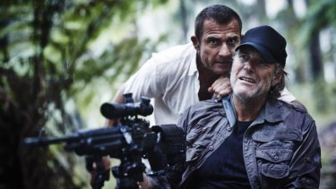 Dominic Purcell and Robert Taylor in the remake of <i>Turkey Shoot</i>.