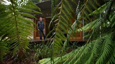 Gavin Ronan, owner of Bothfeet Walking eco-lodge in Johanna on the Great Ocean Road.