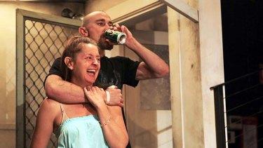 Uncomfortable … Jeanette Cronin and Josh McConville.