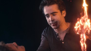 Please fear me: A wasted Colin Farrell fails to bring the scary in the frightless horror dud <i>Fright Night 3D</i>.