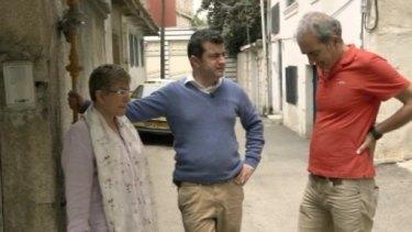 Senator Sam Dastyari and his parents during the Australian Story episode.