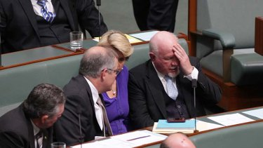 Deeply traumatised... Liberal MP Mal Washer.