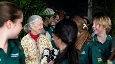 Jane Goodall at Sydney's Taronga Zoo.