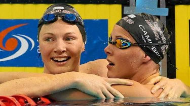 Cate and Bronte Campbell place first and second.