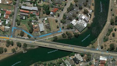 A Google map of the location where police are searching in the case of missing mother Karen Ristevski.