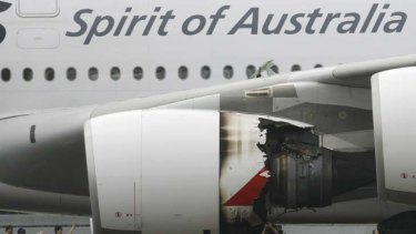 Winged ... an A380, damaged in 2010, is being repaired in Singapore.