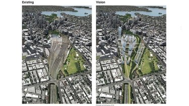 A rail corridor between Central and Eveleigh will be built into high rises and the space over rail lines will be developed.