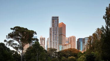 35 Spring Street in Melbourne, a residential tower developed by Cbus Property.