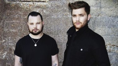 Quiet types: Royal Blood's Ben Thatcher (left) and Mike Kerr let their music do the talking.