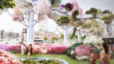 The planned Seoul Skygarden will replace a disused highway.