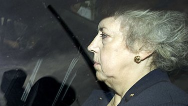 Eliza Manningham-Buller, former head of British domestic intelligence agency MI5, after giving evidence to the Iraq War Inquiry in London.