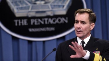 Pentagon press secretary Navy Rear Admiral John Kirby announces that Somali Islamist leader Ahmed Abdi Godane had been killed in a US air strike by manned and unmanned aircraft.