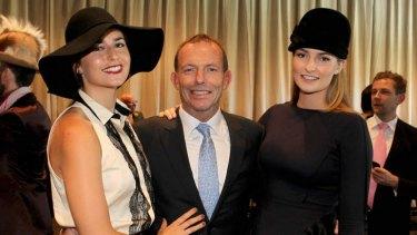 From left: Frances, Tony and Bridget Abbott.