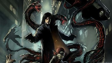 A promotional shot used for The Darkness II.