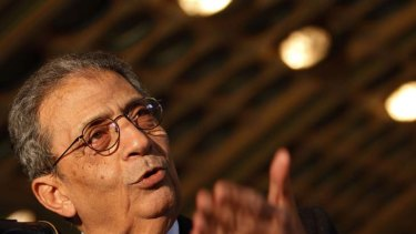 Amr Moussa ... reservations  about air strikes.