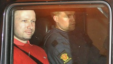 Killed scores of people ... Anders Behring Breivik, left.