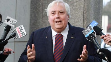 Clive Palmer wants extra staff from Prime Minister Tony Abbott.