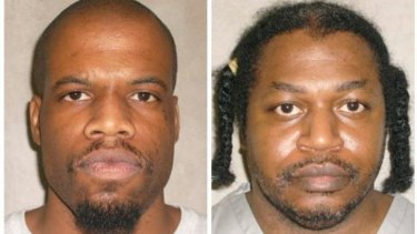 Clayton Lockett, left, died of a heart attack 43 minutes after his execution had started. The execution of Charles Warner, right, was postponed.