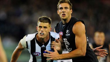 Cameron Wood, left, is now a Carlton rookie. Shaun Hampson, right, is now a Tiger.