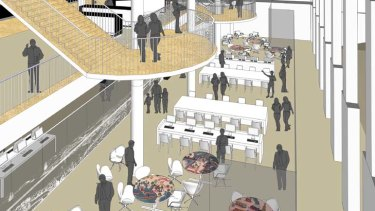 Filled with life ... an artist's impression of the updated ground floor.