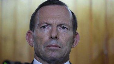 Prime Minister Tony Abbott on Friday.