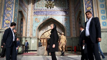 Foreign Affairs minister Julie Bishop toured a bazaar in Tehran Iran after a day of meetings in April.