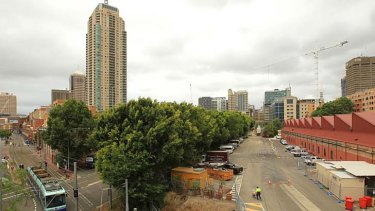 Bird's-eye view ... the proposed area for development, the Goods Line at Pyrmont, where a cafe could help draw visitors.
