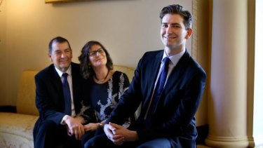 Rhodes Scholar Alexander Eastwood with his parents Glenn and Helen.