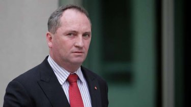 On the move ... Senator Barnaby Joyce.