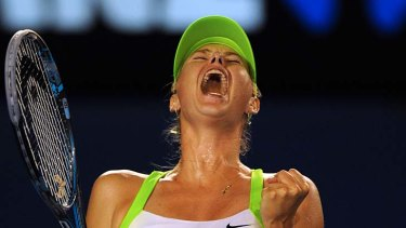 """This is what I train for and why I go out on the court, for moments like this"" ... Maria Sharapova."